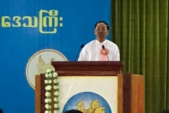 20181012_001 The Vice President U Myint Swe delivering the opening speech