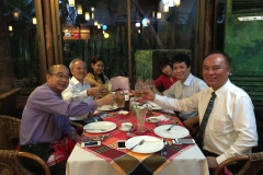 Dinner with visitors from HKMMA on 24.3.2015